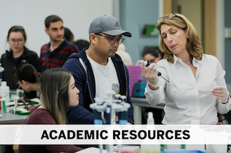 Academic Resources Button on Student Resource Page